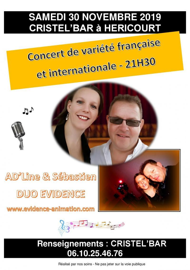 Affiche concert 30 11 19 cristel bar